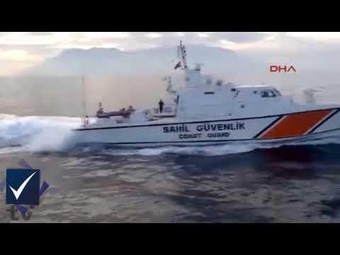 Türk balıkçıları taciz eden Yunan sahil güvenliğe Türk Sahil Güvenlik ayarı